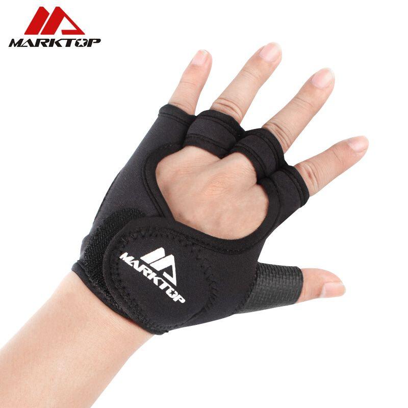 Gym gloves fitness gloves Silicone Antislip Breathable weight lifting sports training gloves Lengthened bandage Dumbbell M5050