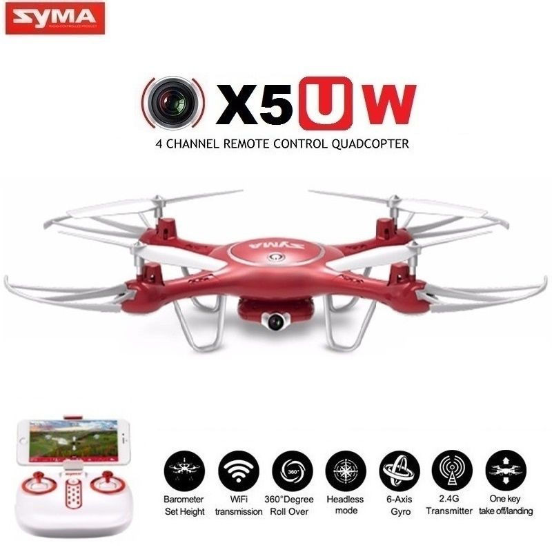 SYMA X5UW & X5UC FPV RC Drone With 720P WiFi 2MP HD Camera 2.4G 4CH 6Axis Quadcopter Helicopter Height Hold One Key Land Dron