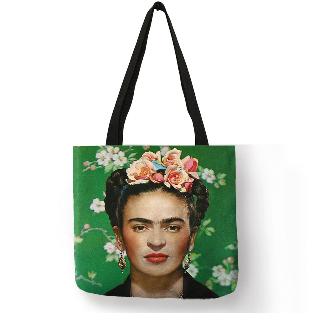 Exclusive Frida Kahlo Printed Tote Bag Women Fashion Totes Reusable Shopping Traveling Bags Folding Storage Bag Clothes Food