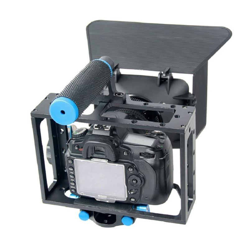 Appareil photo portable 3 en 1 DSLR Set Cage + suivi Focus + boîtier mat pour Canon 5D2 5D3 6D 7D 60D 70D accessoires de Studio de fabrication de films
