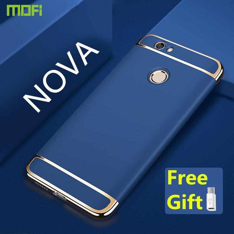Nova cas pour Huawei nova cas couverture MOFi luxe de cas de dos 3 dans 1 joint couverture capa coque funda pour huawei nova rose or 5 pouce