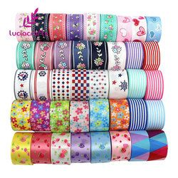 6yards/lot Mix Printed Trim Geometric Ribbons DIY Wrapping/Wedding/Party/Hair Bow Decoration Art Sewing Accessories 040054006