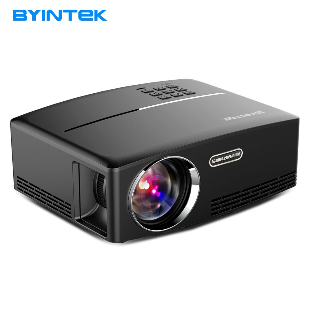 BYINTEK Projector GP80UP for Home Theater,1800 Lumens, HDMI Support Full HD 1080P (Optional Android 6 Version Support 4K Video