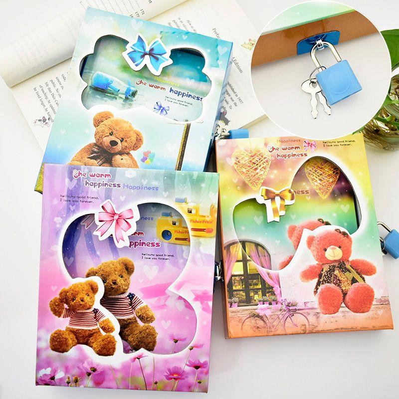 Милый творческий паролем Тетрадь мультфильм Цвет страница журнала, написание книги для детей дневник подарок канцелярские бесплатная дост...
