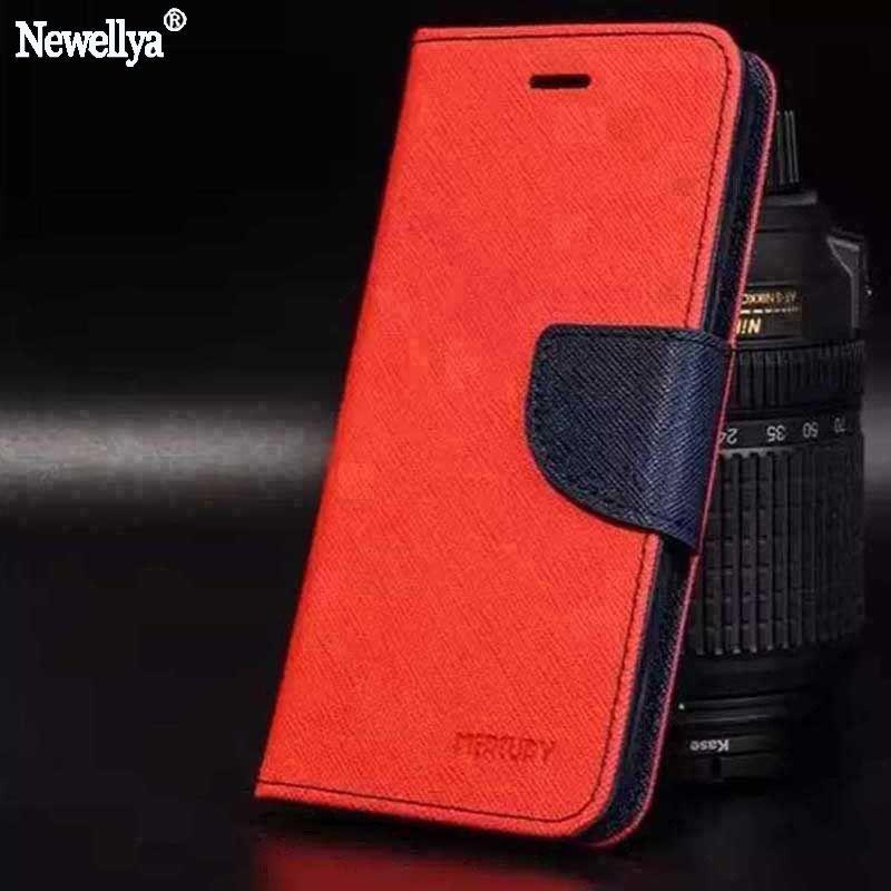 Double Couleur Pour Xiaomi Redmi 3 s Cas note 3 4 4X Pro Flip Couverture Portefeuille Magnétique Téléphone Cas pour xiaomi mi 5S 5S plus Max