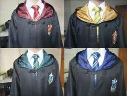 Free Shipping Gryffindor Slater Ravenclaw Hufflepuff Costume for Adult Kids