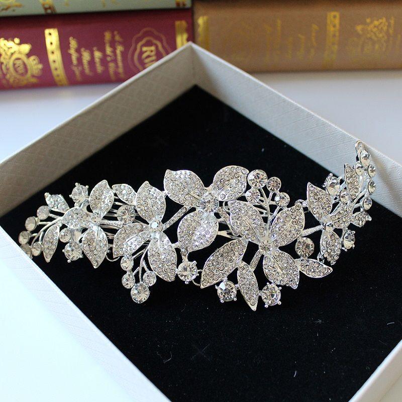 Alliage rinestone mariée frontlet couronne Indien casque de mariage accessoires pour cheveux bijoux cheveux