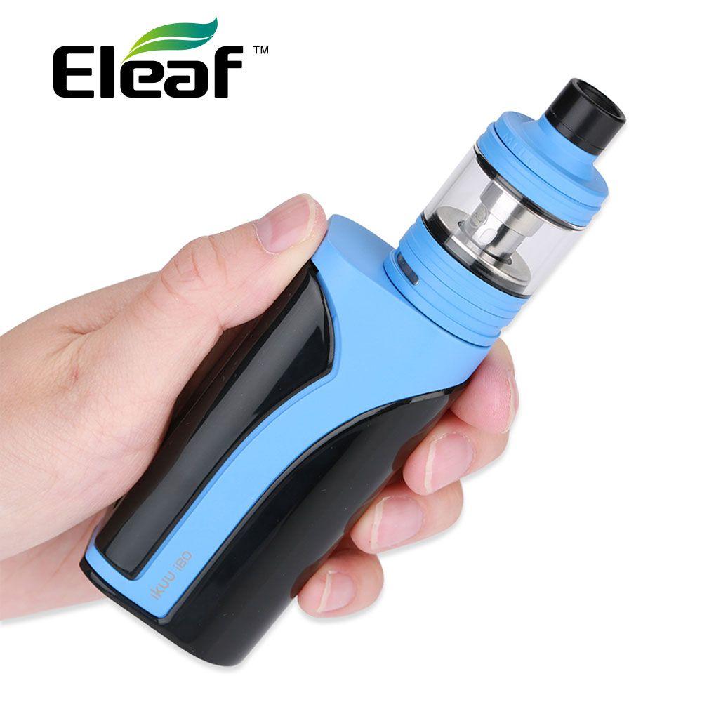 Eleaf iKuu i80 d'origine avec 2 ml/4.5 ml Melo 4 TC Kit 3000 mAh 80 W Eleaf iKuun i80 w/nouvelles bobines de la série EC2 et grand écran de 0.91 pouces