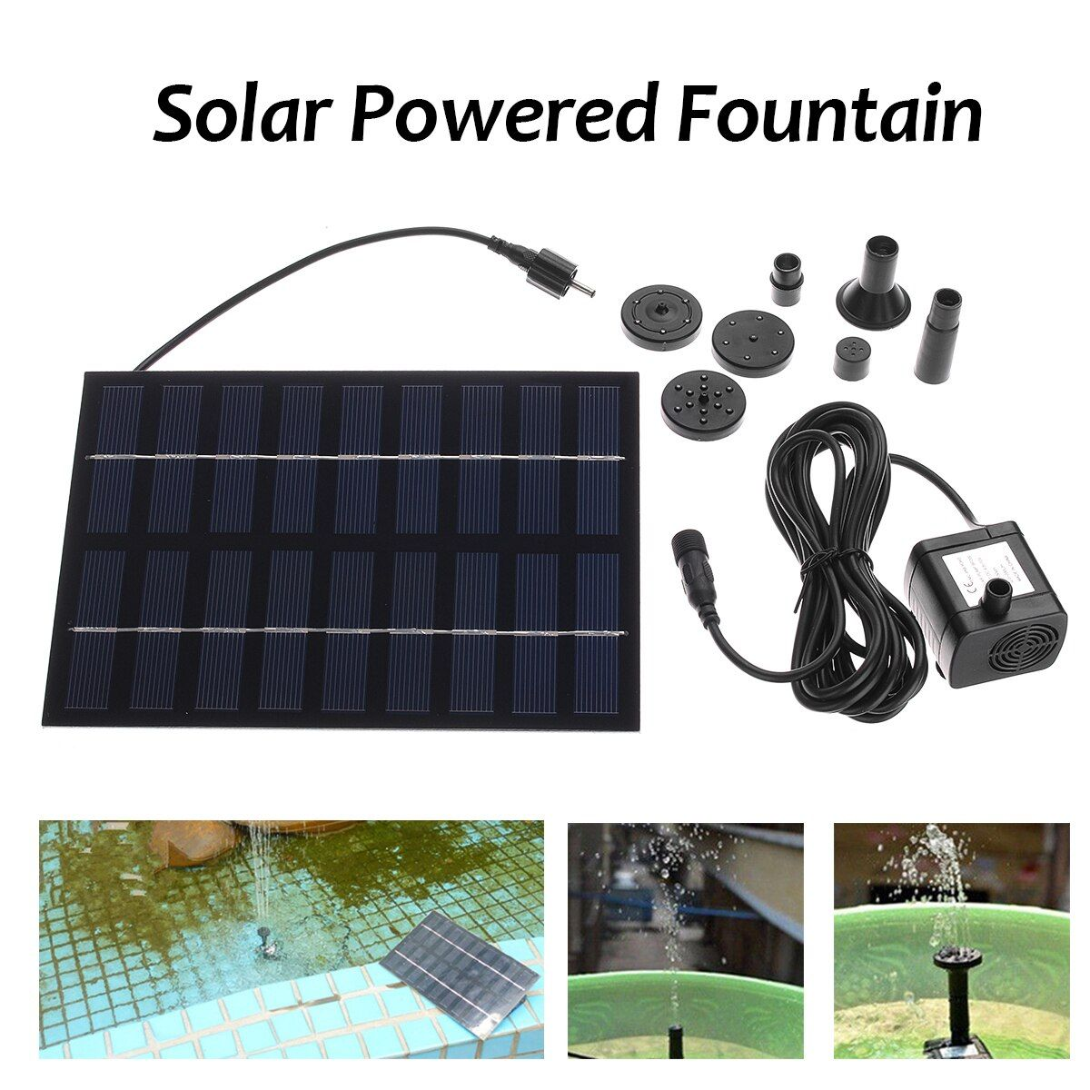 Brushless Solar Water Pump Fountain Pond Pool Rockery Water Garden Aquarium Submersible Water Pumps with Solar Panel
