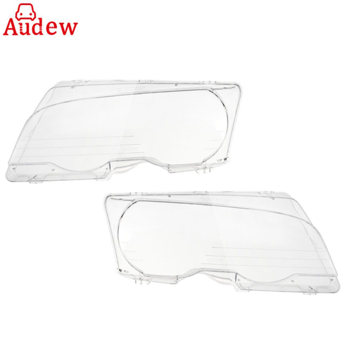 1 Pair Left & Right Headlight Headlamp Clear Lenses Lens Clear Cover Coupe Convertible For BMW E46 2DR 1999-2003 M3 2001-2006