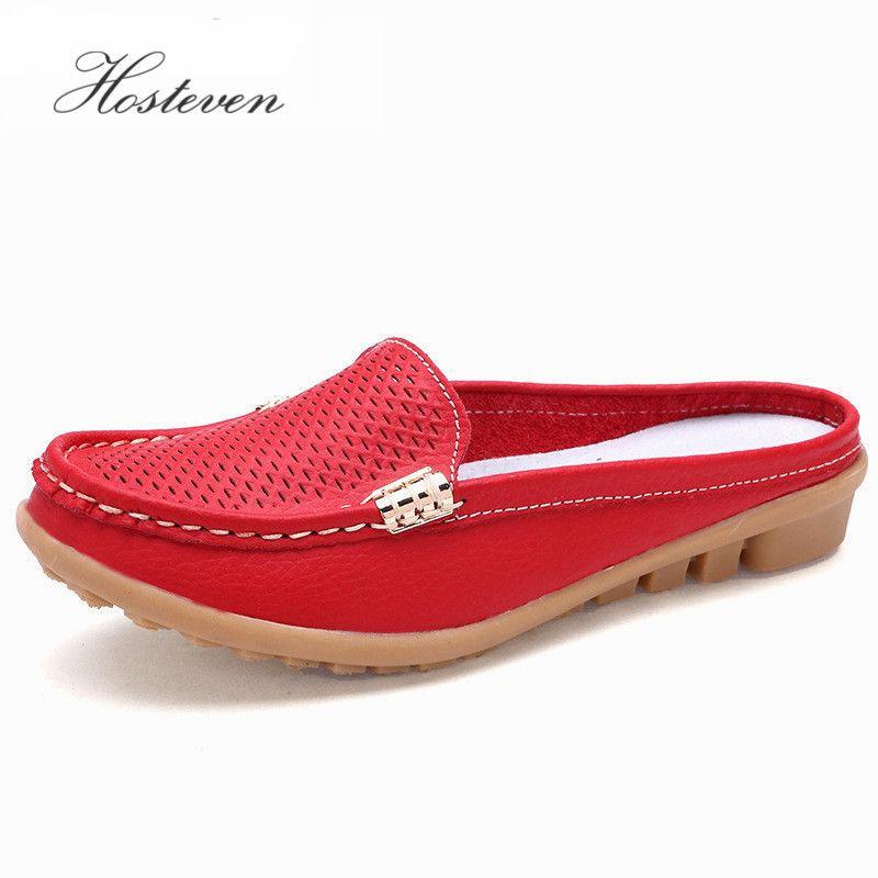 Nouvelles chaussures pour femmes mocassins en cuir véritable mocassins mère mocassins doux loisirs appartements femmes dames conduite Ballet décontracté