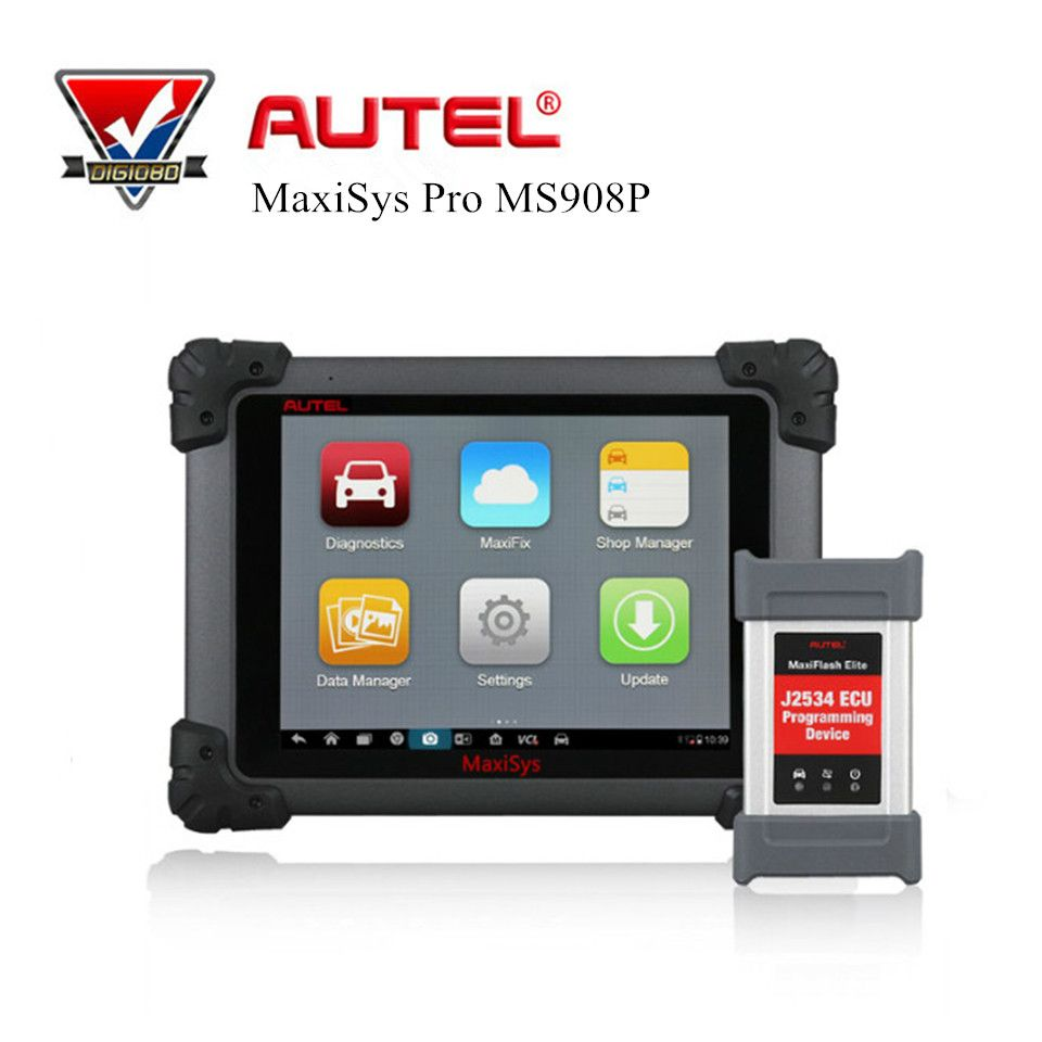 Autel MaxiSys Pro MS908P Automotive Diagnostic Tool Car Code Reader Scanner ECU Coding and J2534 Reprogramming Wifi Bluetooth