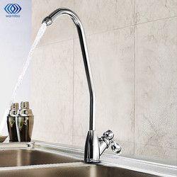 Cromado agua potable de ósmosis inversa filtro fregadero grifo purificador de agua del grifo conveniente para la cocina