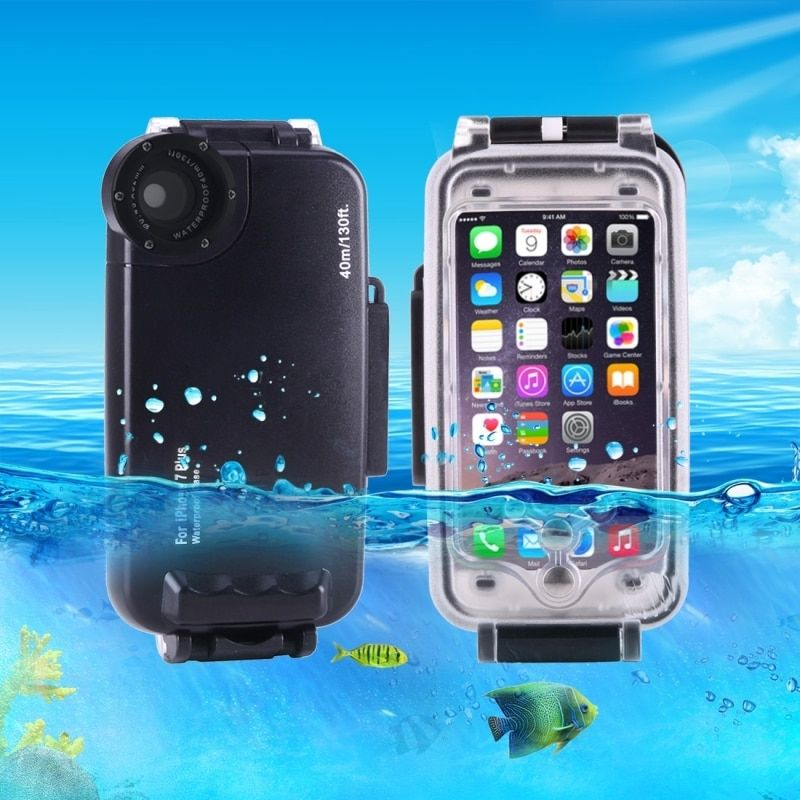 Für iPhone 7 Plus Fall 40 mt/130ft Kameragehäuse Foto Unter Wasserdichte Tauchen Fallabdeckung für Apple iPhone 8 plus