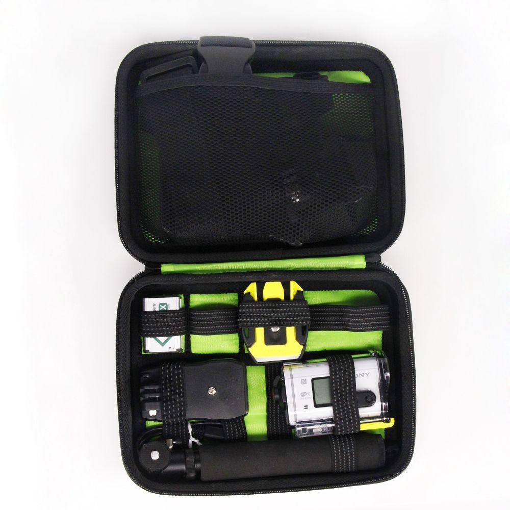 Mallette De Transport Antichoc sac pour Sony Actioncam HDR-AS15 AS20 AS30V AS100V AS200V HDR-AZ1 Mini Sony FDR-X1000V protéger sac