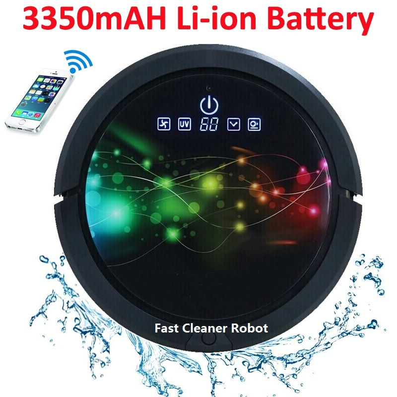 WIFI Smartphone APP <font><b>Control</b></font> Sweeping Vacuum Sterilize Wet And Dry Mop Vacuum Cleaner Robot QQ6 Update With Water Tank