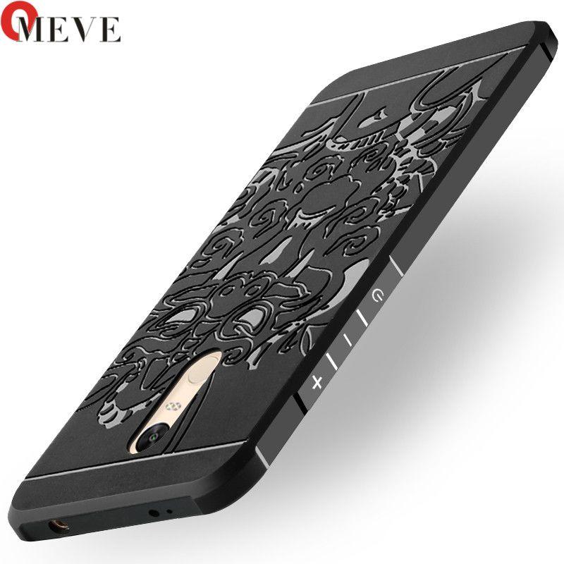 Pour Xiaomi Redmi Note 4X Cas Lame De Silicium Tpu Robuste Couverture Tough Pour Redmi Note 4X 3D Courbe Dragon Shell couverture