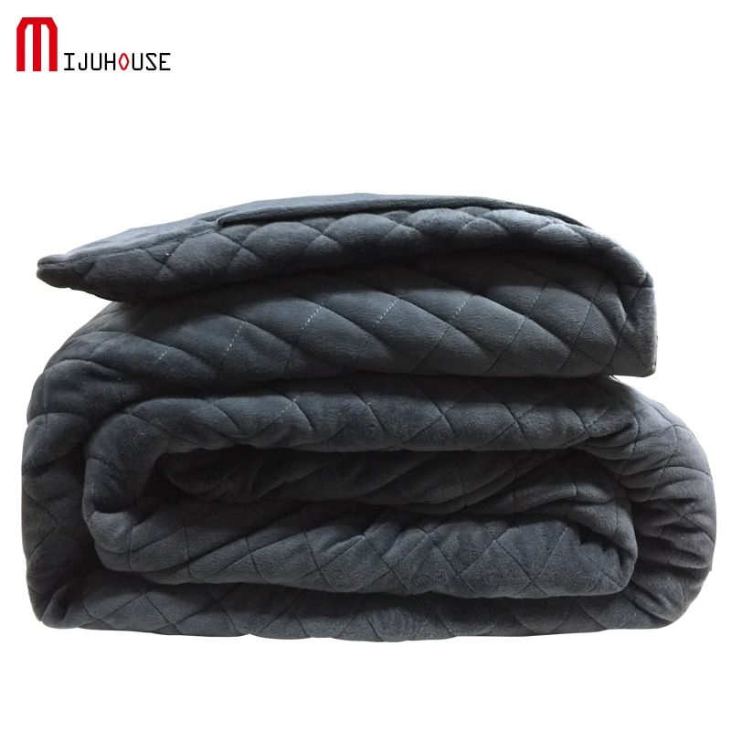 American Weighted Blanket Velvet Quilting Sleep Aiding Blanket Child Autism Assisted Sleep Blanket Size 40*60/48*72/60*80in