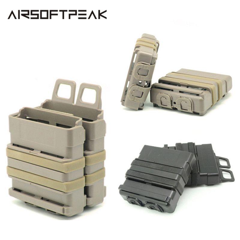 FMA Airsoft fusil 5.56 Mag M4 Magazine attache rapide poche tactique Module de système Molle combinaison deux porte pochettes de traction rapide