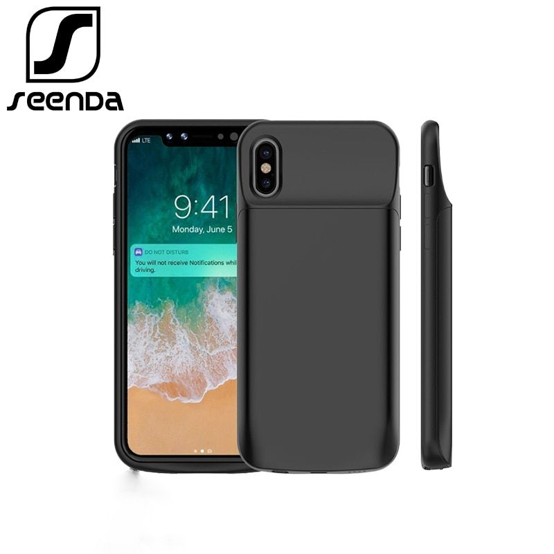 Portable Charging Case For iphone X 3600mAh <font><b>6000mAh</b></font> Battery Power Bank for iphone X Battery Charger Case with Power Bank Gift