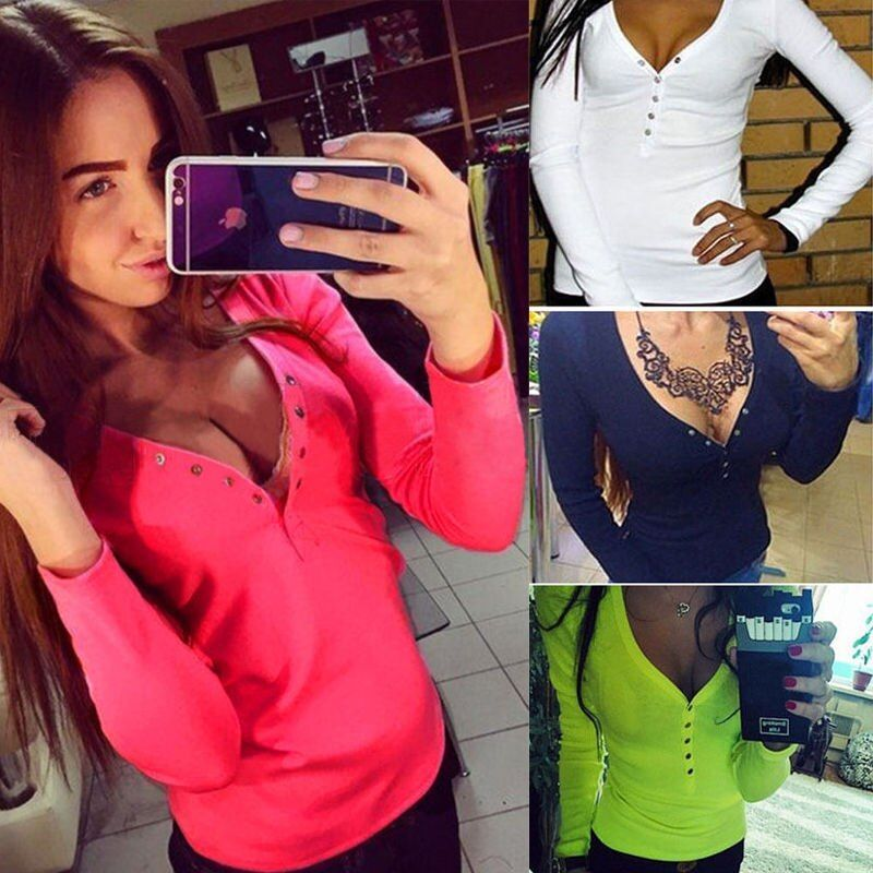 Fashion Women Autunm Winter Blouse Top Long Sleeve Blouse Casual Tank Tops Shirts