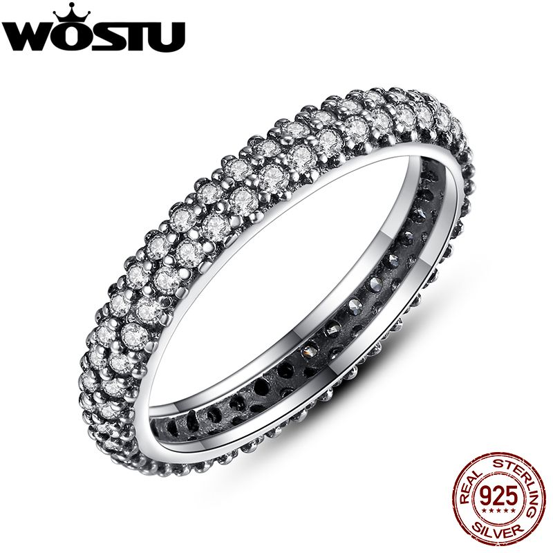 Authentic 100% 925 Sterling Silver Inspiration Within Stackable Rings Compatible With European Fit Original Ring Jewelry XCH7128