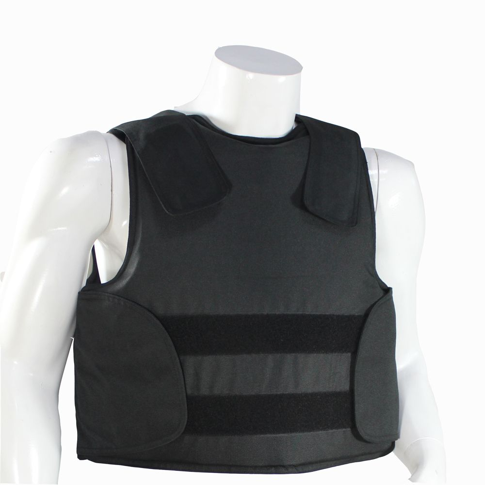 Concealable Kevlar Bulletproof Vest with Carrying Bag Police Body Armor NIJ IIIA Protection Level Size M L XL Black Color