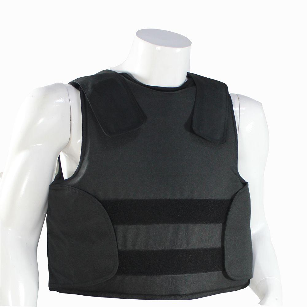Versenkbare Kevlar Kugelsichere Weste mit Tragetasche Polizei Körper Rüstung NIJ IIIA Schutz Ebene Größe M L XL Schwarz Farbe
