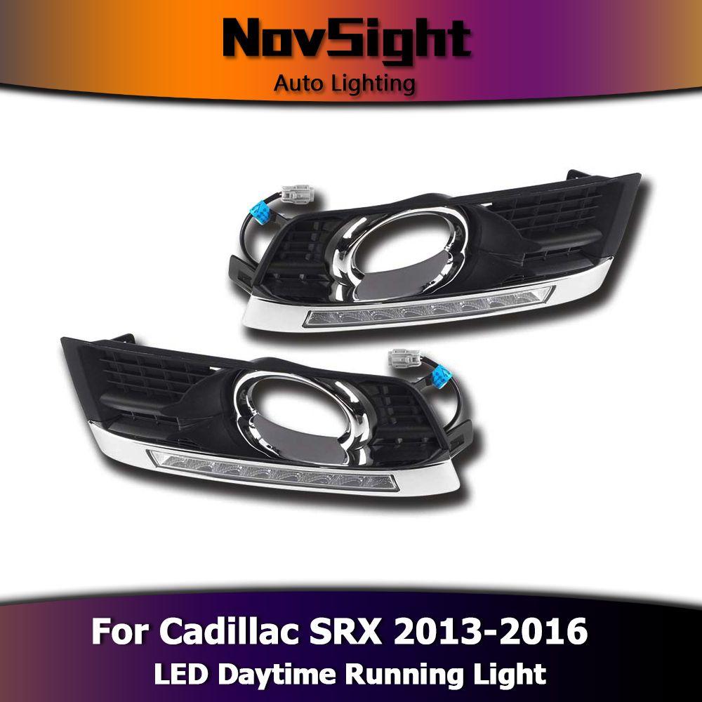 NOVSIGHT Auto Car Light Daytime Running Light Driving Fog Lamps 12V White for Cadillac SRX 2013-2016 DRL D25