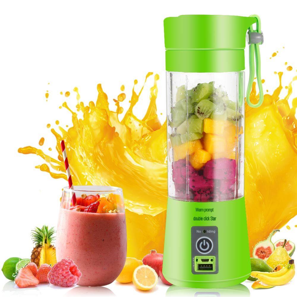 Portable USB Electric Fruit Citrus Juicer Bottle Handheld Milkshake Smoothie Maker Rechargeable Juice Blender