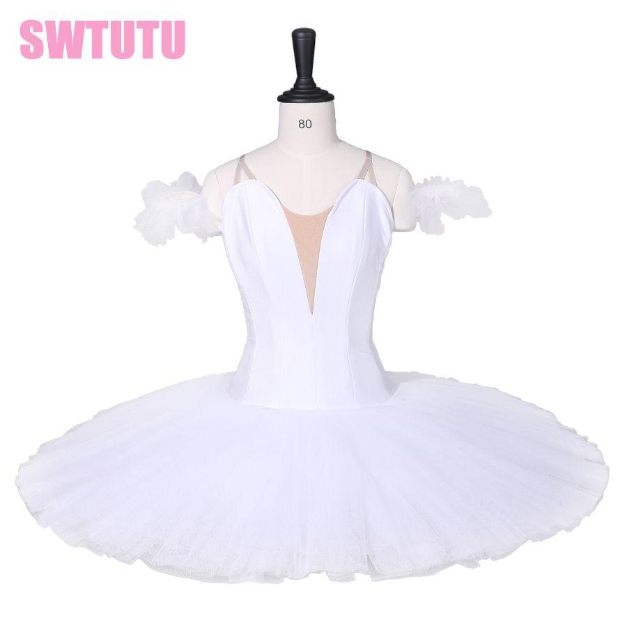 Girls Professional Tutu White Swan Lake Pancake Dance Costumes Tutu Dress Adult Classical Ballet Tutus For Girls BT9111