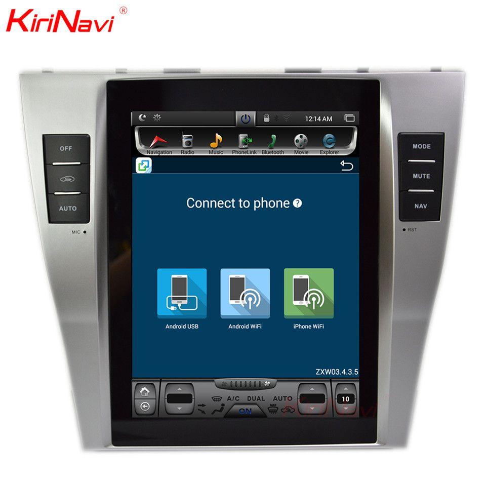 KiriNavi Vertikale Bildschirm Tesla Stil Android 10.4 Zoll Auto Gps Für Toyota Camry Radio-Dvd-Navigation Multimedia Nur Fit Auto AC
