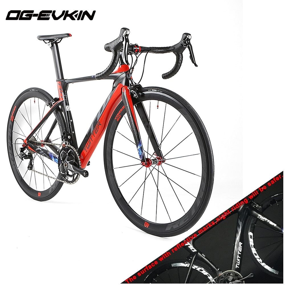 Twitter Newest Super Light Men/Womens Carbon Fiber 700C Complete Road Racing Bikes 22 Speed Bicycles BICICLETA Ciclismo for Sale