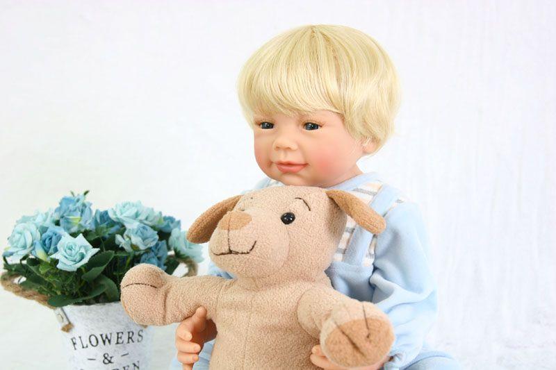 55cm Full Body Silicone Reborn Baby Boy Doll Toy For Girls 22inch Vinyl Newborn Babies Birthday Gift Child Bathe Play House Toy