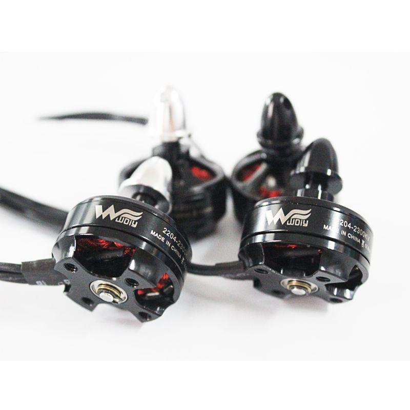 2204 2205 Moteur 2300KV multirotor haute qualité Soutien 4S Batterie pour mini croix racing quad FPV droneQAV-X QAV-R