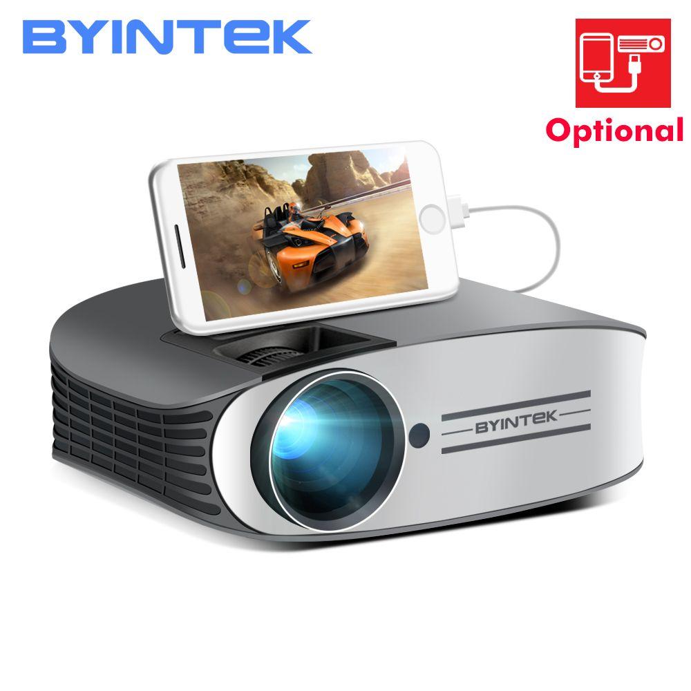 BYINTEK Marke MOND M7 200 zoll Home Theater HD Video LED Projektor für Iphone Smart Android Handy Full HD 1080 P