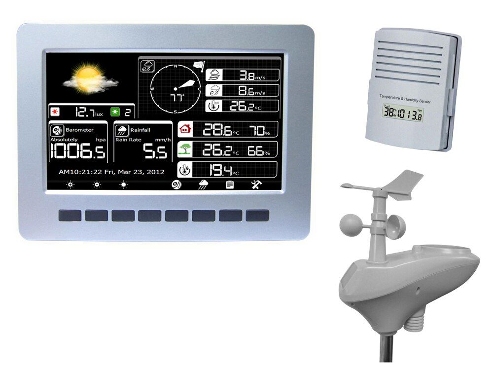 WIFI weather station with solar powered sensor wireless data upload data storage, solar radiation tester
