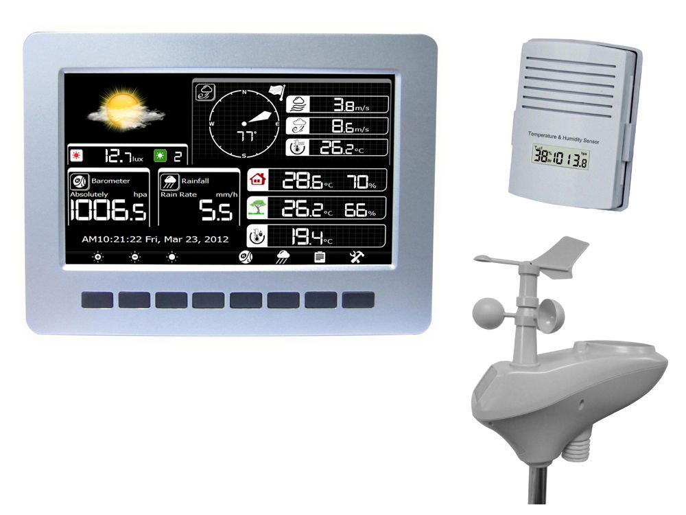 WIFI wetterstation mit solar powered sensor drahtlose daten hochladen datenspeicherung, solar strahlung tester