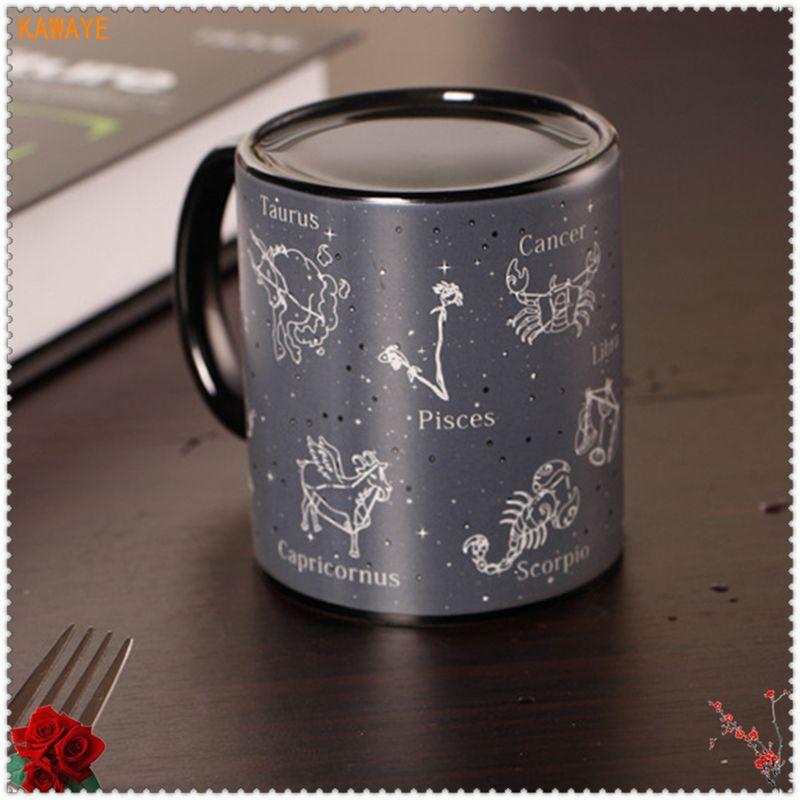 1 unids decoloración creativa Taza de cerámica mágica taza de café de cerámica personalidad jugo de leche Oficina Vasos y copas 6zdz340