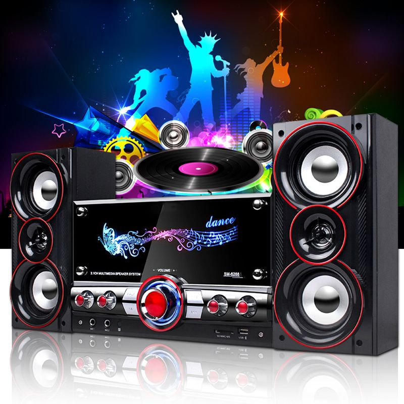 KINCO 3D Surround Sound Musik Zentrum System Home Party Wireless HIFI System Karaoke Bluetooth Geräte für Sich Entspannen