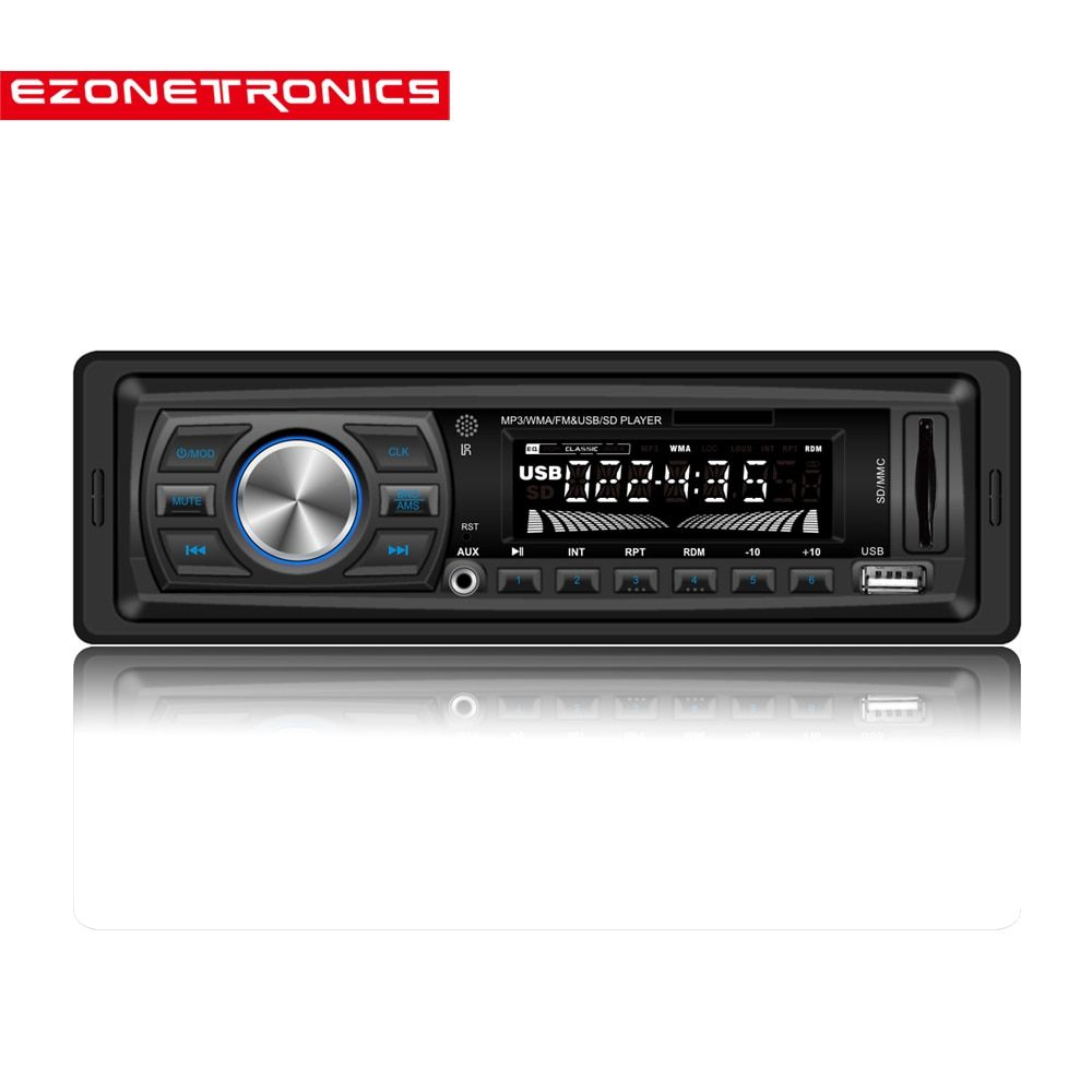Free shipping Car FM and MP3 MP4 Stereo Radio Receiver Aux with USB Port and SD Card Slot music Universal  player LC044