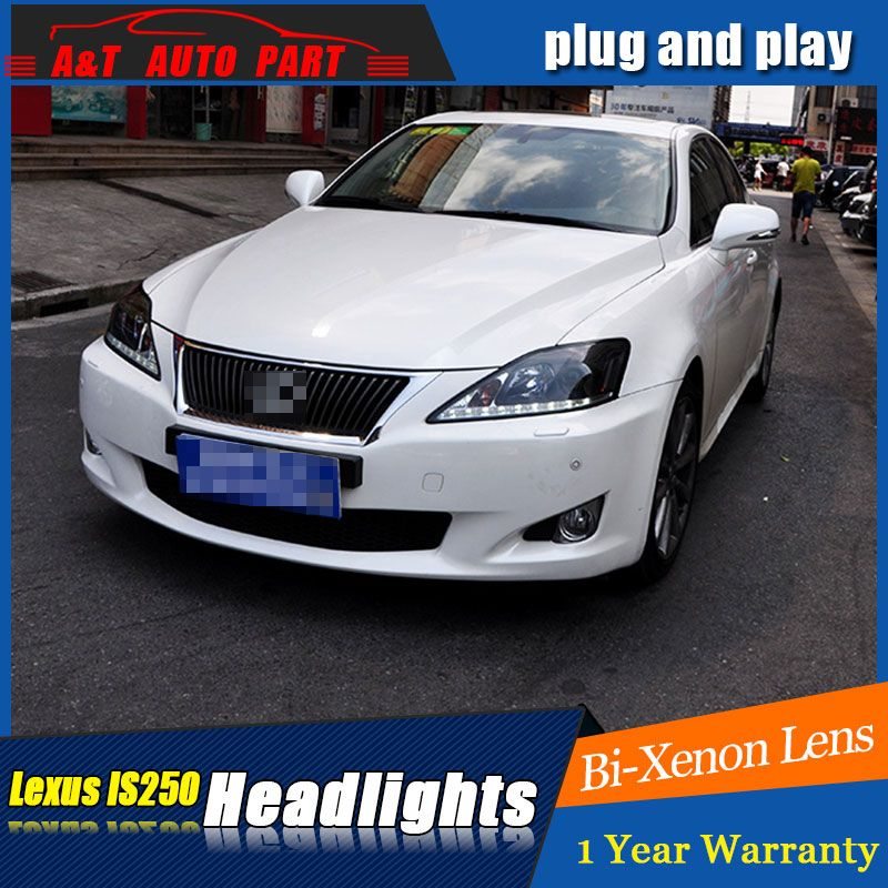 car Styling NEW LED Head Lamp for Lexus IS250 led headlights 2006-2012 for IS250 drl H7 hid Bi-Xenon Lens angel eye low beam