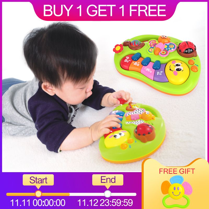 HUILE TOYS 927 Baby Toys Learning Machine Toy with Lights & Music & Learning Stories Toy Musical <font><b>Instrument</b></font> for Toddler 6 month+