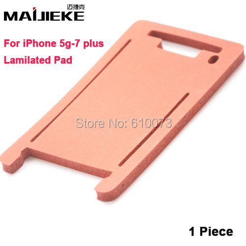 MAIJIEKE laminierung matte pad für iphone 7 6 s 6 Plus 5 5 S 5C frontglas mit rahmen laminieren maschine form Silikon matten