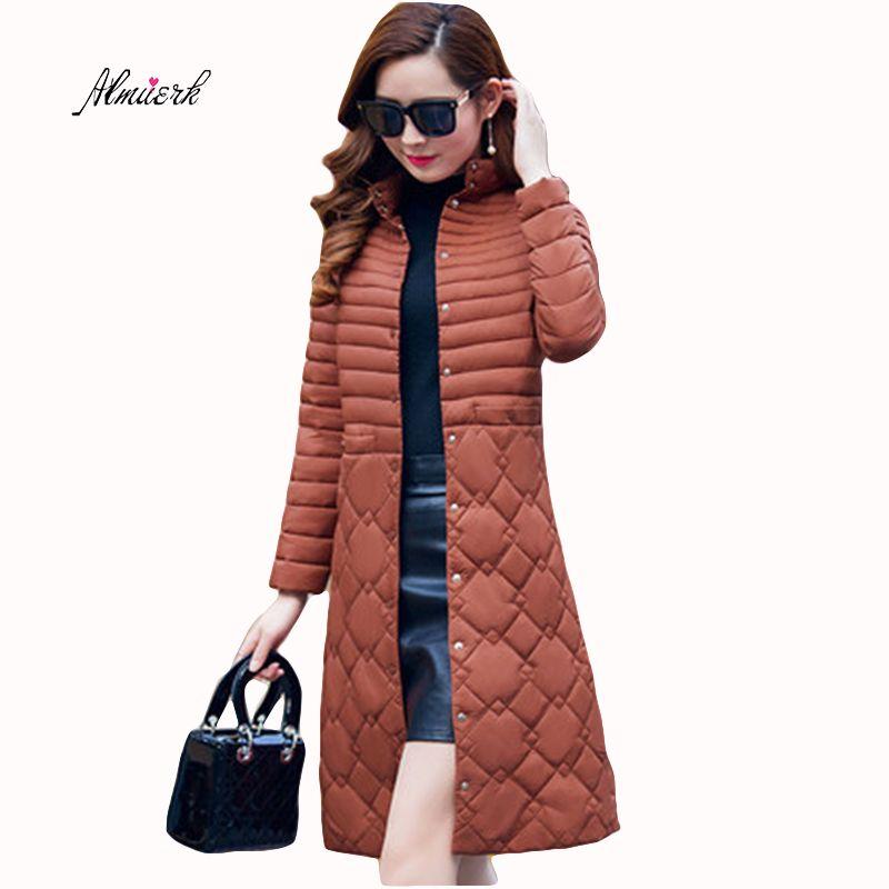 2017 Winter coat Ms Large size L-5XL Light and thin Keep warm Stand collar Down cotton jacket Ms temperament Slim Big coat f217
