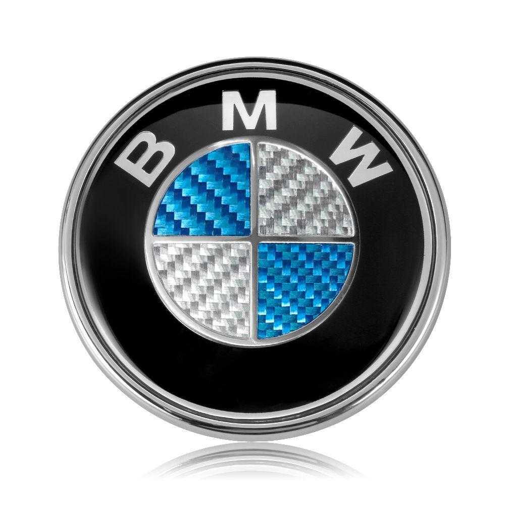 BMW Logo 82mm 74mm Blue White Real Carbon Fiber Car Hood Front Emblem Trunk Badge BMW E46 E39 E38 E60 E90 F10 F20 F30 X3 X5 X6