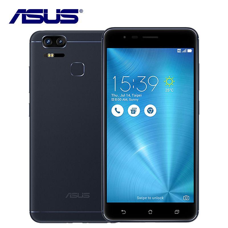 Оригинальный Asus Zenfone 3 зум ze553kl мобильный телефон Qualcomm Dual SIM 3 Камера 4 ГБ Оперативная память 128 ГБ Встроенная память 5000 мАч Android отпечатков паль...