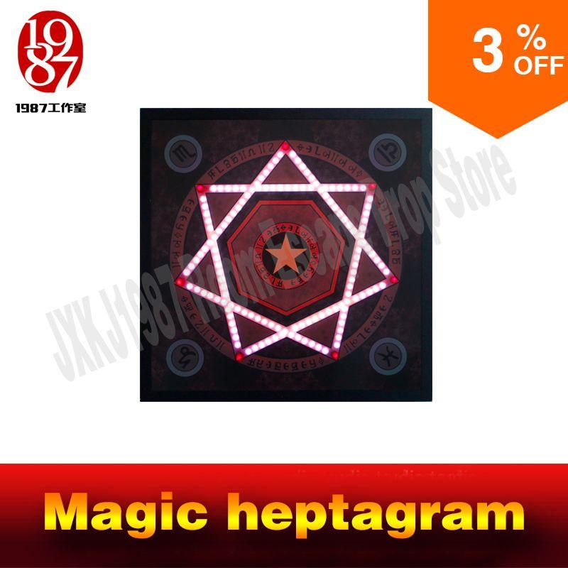 Room escape prop echt leben abenteuer spiel Magie heptagram touch die sensible punkte in korrekte sequenz zu entsperren von JXKJ1987