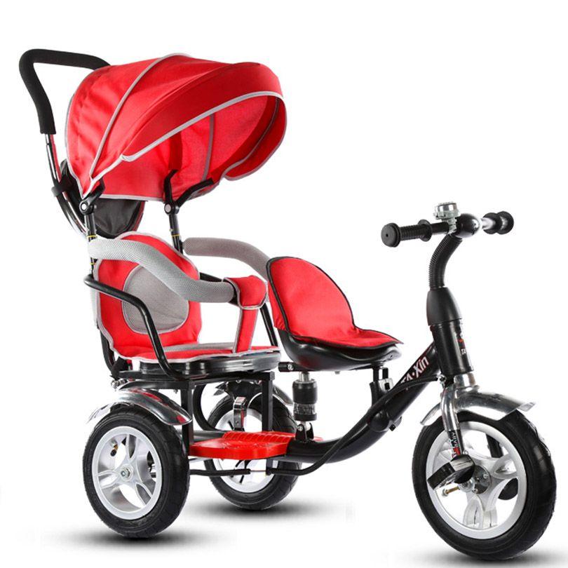 Ребенок трехколесный велосипед ребенка велосипед двойной мальчик и девочка коляска близнецов коляска велосипед Новое поступление детский...