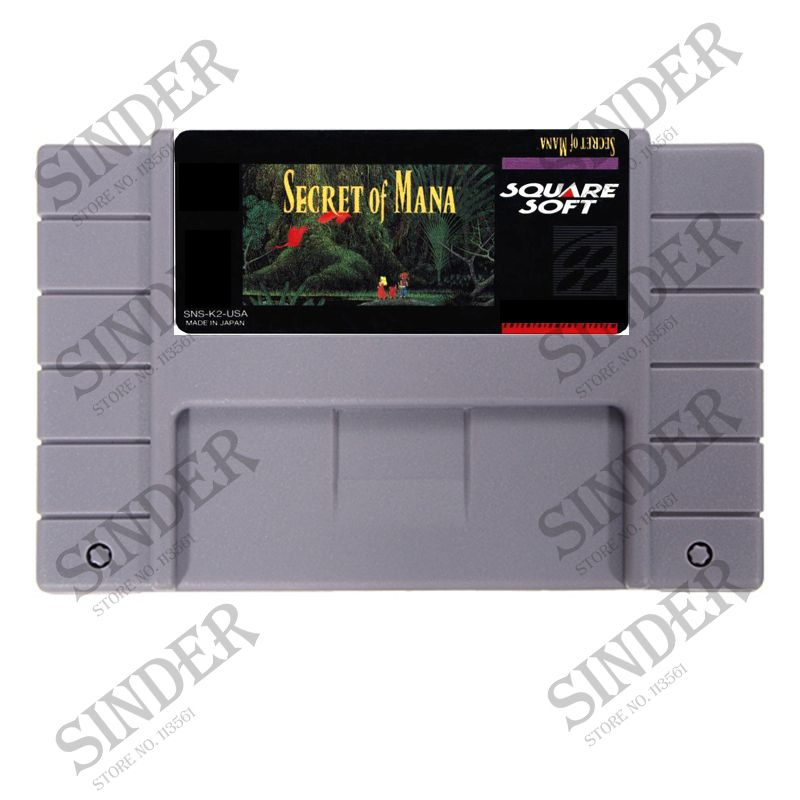 Secret Of Mana 16 bit Big Gray Game Card For NTSC PAL Game Player